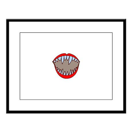 Vampire Teeth Large Framed Print