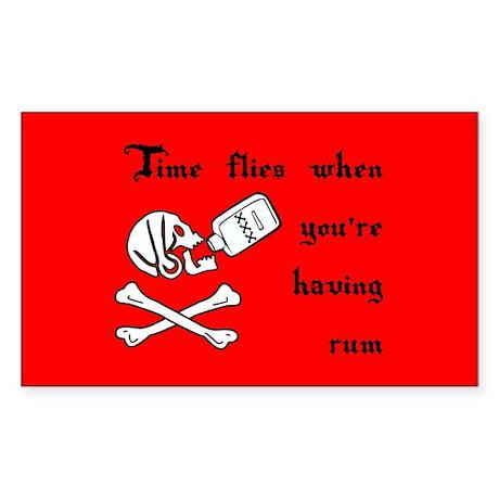 Time Flies When You're Having Rum Sticker