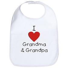 I Love Grandma & Grandpa Bib