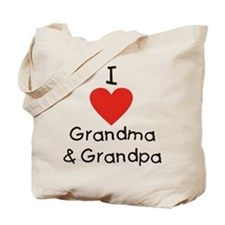 I Love Grandma & Grandpa Tote Bag