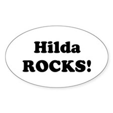 Hilda Rocks! Oval Decal