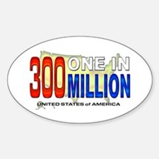 300 Million Oval Decal
