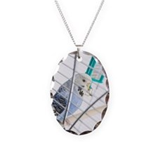 Budgie in cage Necklace
