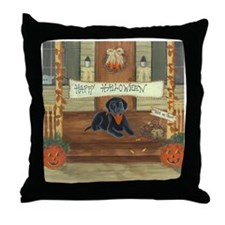 Halloween Labrador Throw Pillow