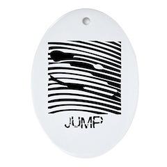 Ski Jump Oval Ornament