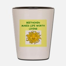 beethoven Shot Glass