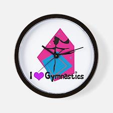 I Heart (Love) Gymnastics Wall Clock