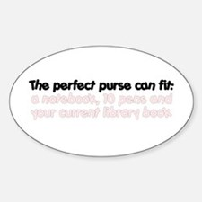 A Writer's Perfect Purse Oval Decal