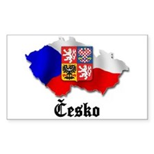 Česko Rectangle Decal