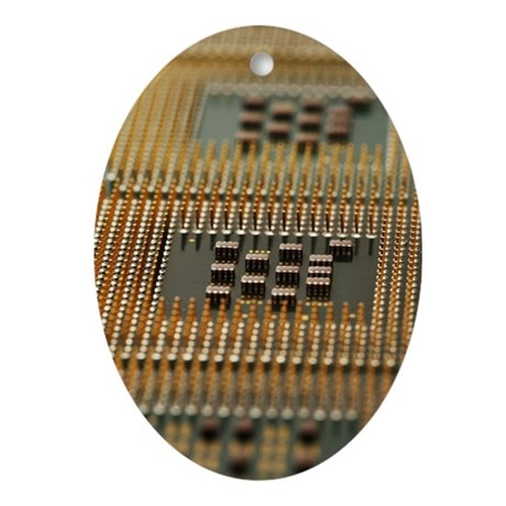 central processing units close up Ornament (Oval)