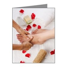 Woman receiving pedicure tre Note Cards (Pk of 10)