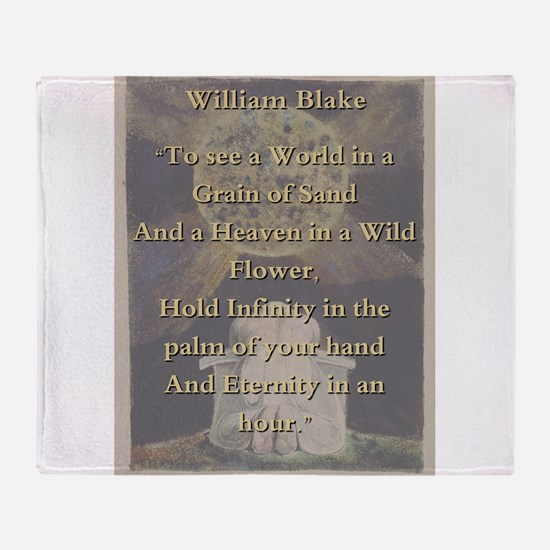 To See A World In a Grain Of Sand - W Blake Throw