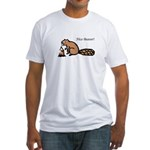Nice Beaver! Fitted T-Shirt