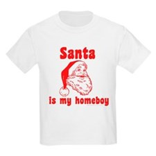 Santa is my homeboy Kids T-Shirt