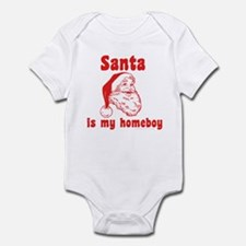 Santa is my homeboy Infant Bodysuit