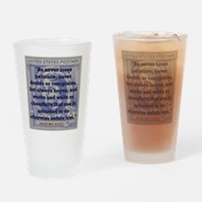 He Never Loses Patience - Alcott Drinking Glass