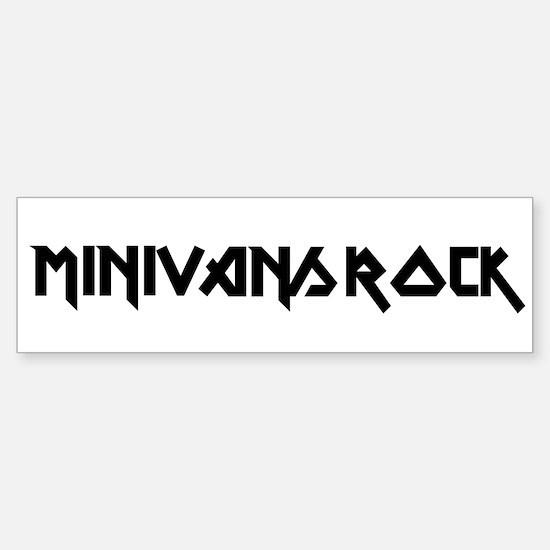 Minivans Rock Bumper Bumper Bumper Sticker
