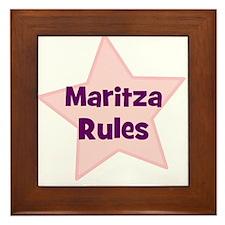 Maritza Rules Framed Tile