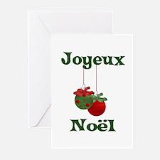 Joyeux Noel Greeting Cards (Pk of 10)