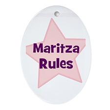 Maritza Rules Oval Ornament