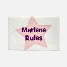 Marlene Rules Rectangle Magnet