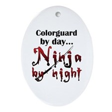 Colorguard Ninja Ornament (Oval)