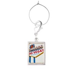 Welcome to Las Vegas sign Portrait Wine Charm