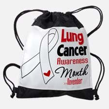 Cute Lung cancer cause Drawstring Bag