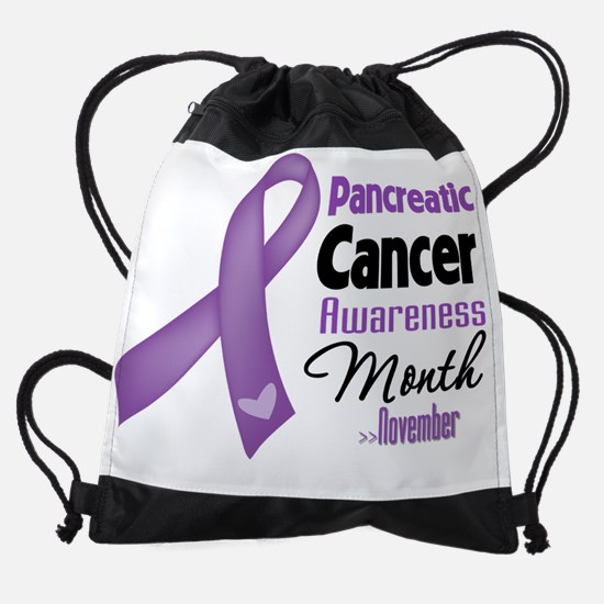Pancreatic Cancer Awareness Month.p Drawstring Bag