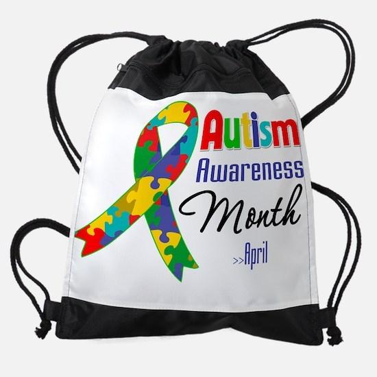 Autism Awareness Month.png Drawstring Bag
