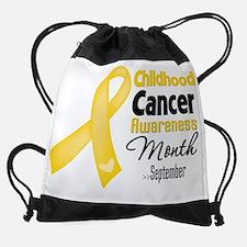 Childhood Cancer Awareness Month.pn Drawstring Bag