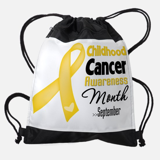 Childhood Cancer Awareness Month.pn Drawstring Bag