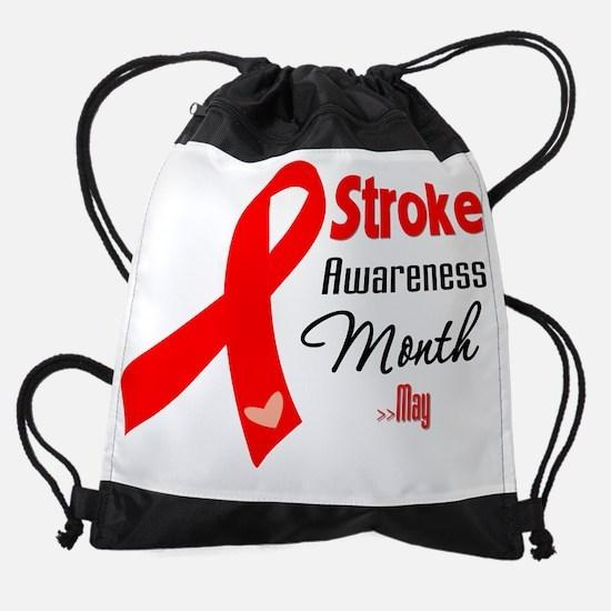 Stroke Awareness Month.png Drawstring Bag