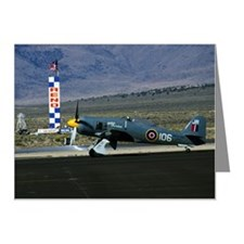 Antique military aircraft on Note Cards (Pk of 10)