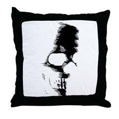 Scary Skull Throw Pillow