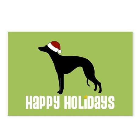 """Whippet """"Santa Hat"""" Postcards (Package of 8)"""