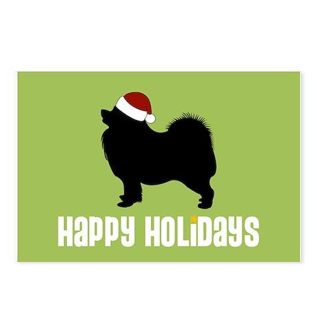 "Samoyed ""Santa Hat"" Postcards (Package of 8)"
