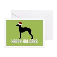 "Italian Greyhound ""Santa Hat"" Greeting Cards (Pack"
