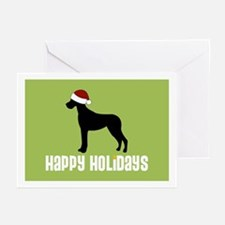 "Great Dane ""Santa Hat"" Greeting Cards (Package of"