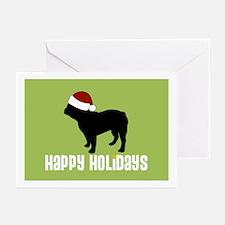 "Fr Bulldog ""Santa Hat"" Greeting Cards (Package of"