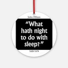 What Hath Night To Do With Sleep - John Milton Rou