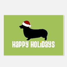 "Corgi ""Santa Hat"" Postcards (Package of 8)"