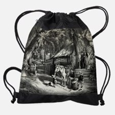 Sunday morning in the olden time -  Drawstring Bag