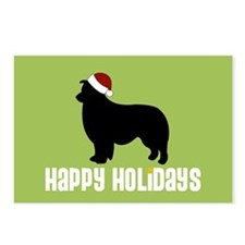 "Border Collie ""Santa Hat"" Postcards (Package of 8)"