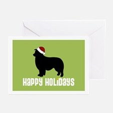 "Border Collie ""Santa Hat"" Greeting Cards (Package"