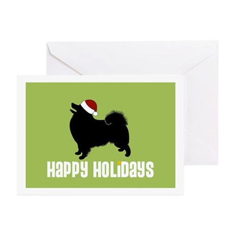 "American Eskimo ""Santa Hat"" Greeting Cards (Packag"