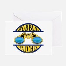 Scuba Bubble Watcher Greeting Cards (Pk of 10)