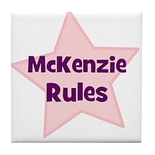 Mckenzie Rules Tile Coaster