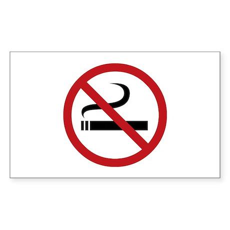 No Smoking Sign Rectangle Sticker