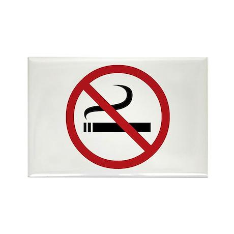 No Smoking Sign Rectangle Magnet